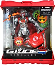 Hasbro Year 2007 G.I. Joe Commando Series 9 Inch Tall Action Figure Set - WINDFIRE COBRA COMMANDO with Kung Fu Grip, Lightning Staff and Zeus Chariot with 3 Element Wheels (Wind, Lightning and Fire) Plus Caps that Forms Weapon Case
