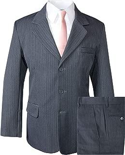Spring Notion Big Boys' Pinstripe Suit Set Grey