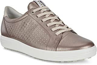 ECCO Women's Casual Hybrid Perforated Golf-Shoe, Warm Grey, 9 M US