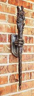 Ebros Medieval Renaissance Dungeon Dragon Head Scepter Orb Torch 23.5