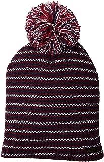 Marled Women's Knit Beanie with Oversized Pom