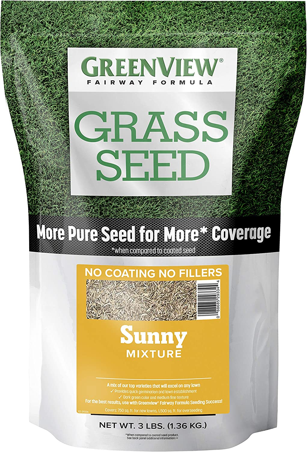 GreenView 2829339 Inexpensive Fairway Max 71% OFF Formula Grass Seed l 3 Mixture Sunny -