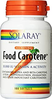 Solaray Food Carotene Capsules, 10000IU, 100 Count
