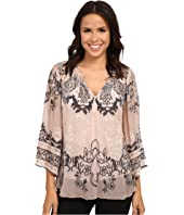 Hale Bob - Truth Or Flare Velvert Burnout Top