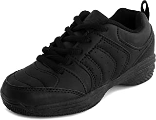 Air Balance Boys Solid Color Lace-Up Running Shoes Black Sneakers (Toddler)