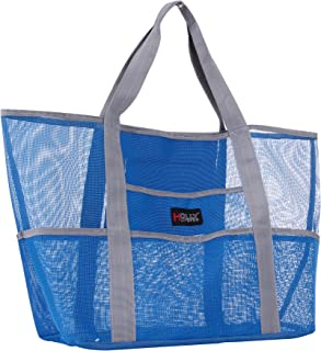 Holly LifePro Mesh Beach Bag Toy Tote Bag LargeLightweight Market Grocery & Picnic Tote with Oversized PocketsInside Zippe...