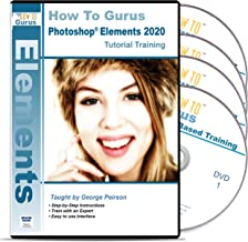 Adobe Photoshop Elements 2020 Training plus Photography Projects on 4 DVDs Over 23 Hours in 302 Software Tutorial Easy to Follow from How To Gurus