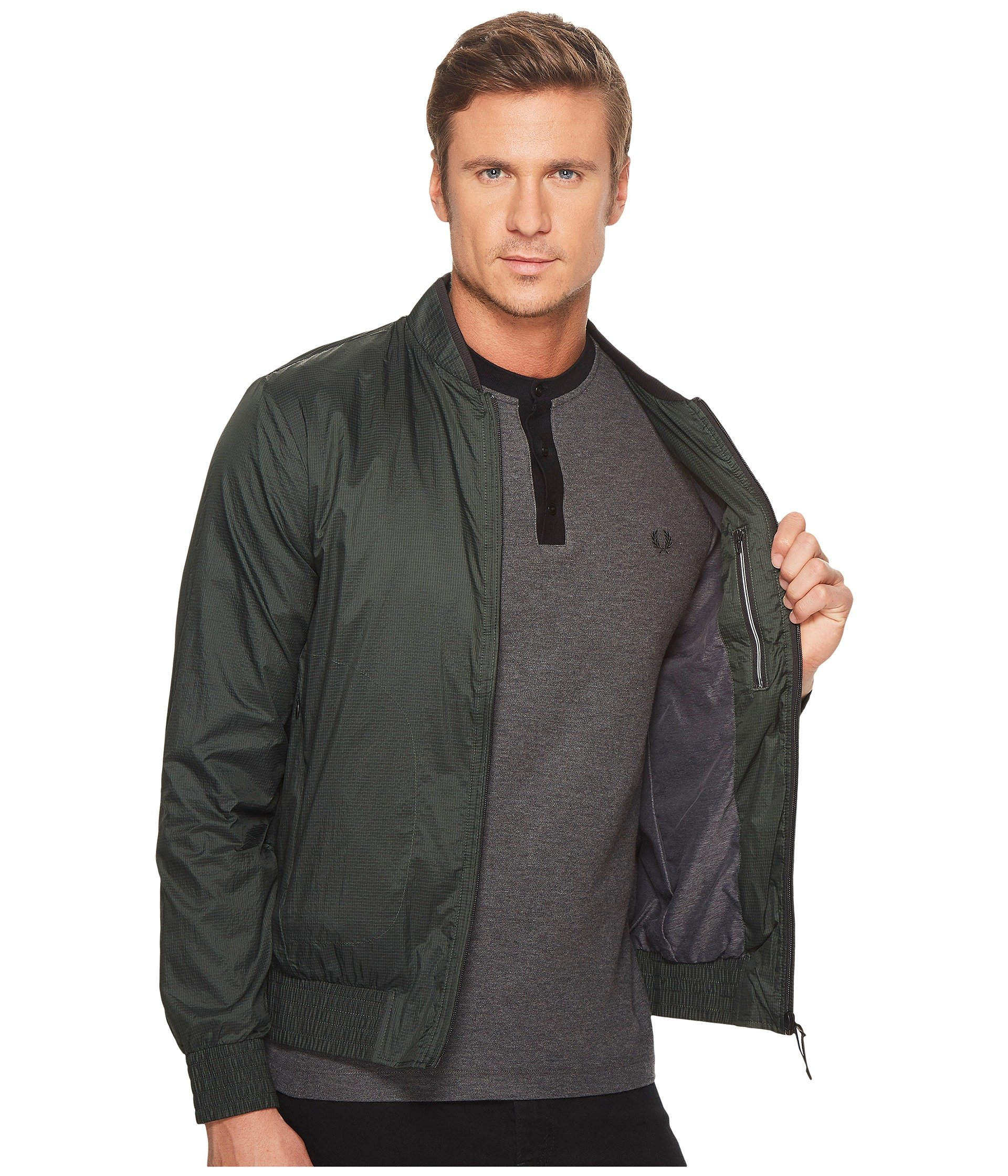 fred perry lightweight bomber jacket at. Black Bedroom Furniture Sets. Home Design Ideas