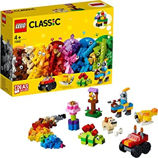 LEGO 11002 Classic Basic Brick Set with Wheels and Eyes for Kids 4+ Years Old, and Creative Building Ideas Young Builders...