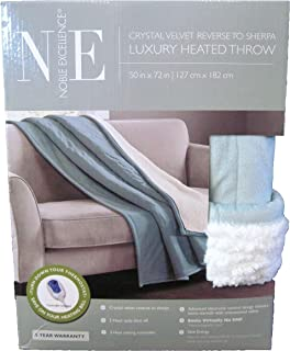 Noble Excellence Luxury Heated Throw Blanket (Teal)