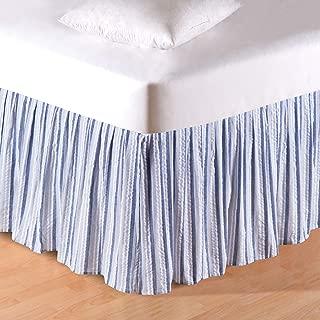 C&F Home 60X80 Queen Bed Skirt/Dust Ruffle, Nantucket Stripes