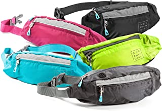 Fanny Packs for Women - Slim Yet Spacious Waist Pack w/Multiple Compartments and Headphone Cord Access - Lightweight Fannie Hip Bag Great for Hiking, Walking, Biking, Running, Travel, More