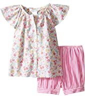 Ralph Lauren Baby - Printed Cotton Striped Shorts Set (Infant)