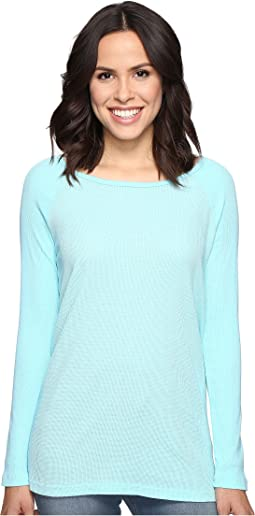 Long Sleeve Raglan Tunic w/ Contrast Sleeves