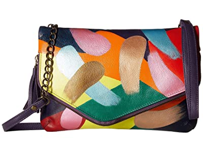 Anuschka Handbags 607 Convertible Envelope Clutch Wristlet (Painterly Palette) Handbags