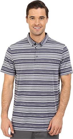 Short Sleeve Tailored Multi Stripe Polo