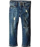 DL1961 Kids - Harper Boyfriend Unstitched Cuffed Jeans in Meerkat (Toddler/Little Kids)