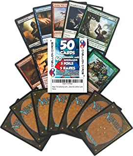 Magic The Gathering Cards 50 MTG Card Assorted Lot (Commons/Uncommons, Foils, Rares) by Cazillion Cards
