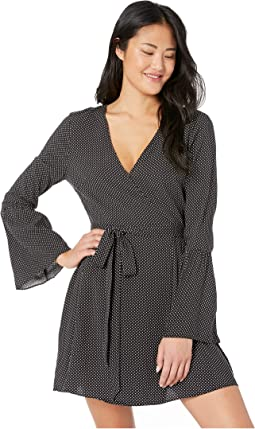Day Flare Sleeve Wrap Dress