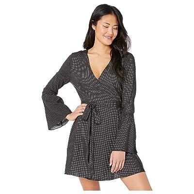 BCBGeneration Day Flare Sleeve Wrap Dress (Black) Women