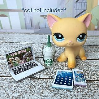 LPS Littlest Pet Shop 4 Accessories Lot Frappuccino Laptop Phone Tablet