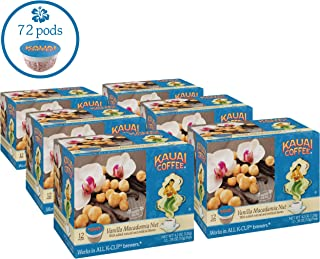 Kauai Coffee, Vanilla Macadamia Nut, 12 ct (Pack of 6)