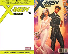 X-Men Gold #30 The Wedding of Rogue and Gambit Poly Bagged J. Scott Campbell Classified Variant First Printing
