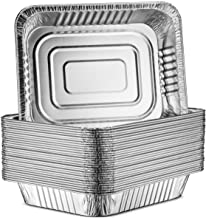 """30-Pack Aluminum Half-Size Roasting Pans - Super-Thick 9x13"""" Standard Size Chafing Pans Tins - Eco-Friendly Recyclable Alu..."""