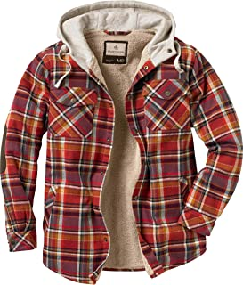 Legendary Whitetails Men's Camp Night Berber Lined Hooded Flannel