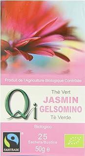Qi Tea Organic Jasmine Green Tea Teabags, 25 Count