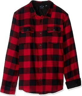 Burnside Camisa de franela a cuadros para hombre