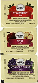 Heinz Strawberry Apple & Concord Grape Jelly (0.5 oz Packets, Pack of 200)