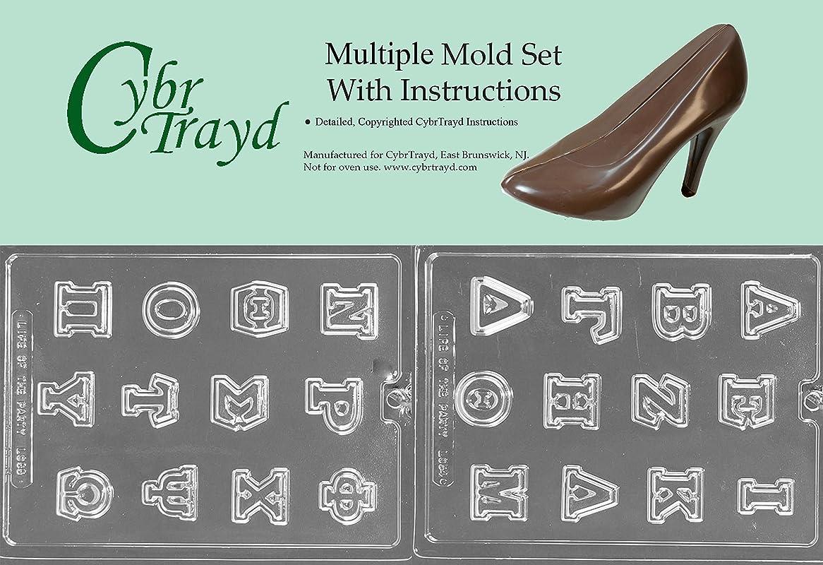 Cybrtrayd BUN L054L055 2 Piece Greek Letters Chocolate Molds