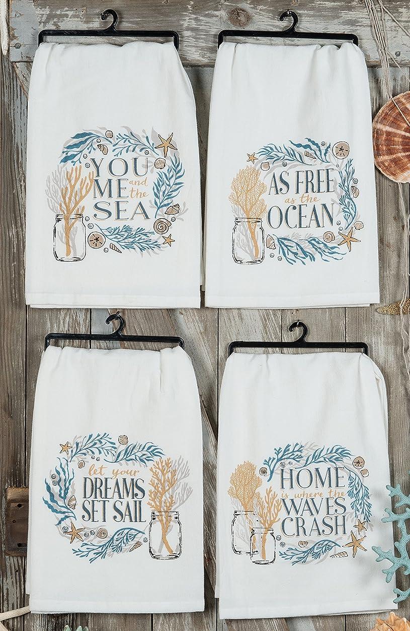 防腐剤ガウン悲観的Kay Dee Designs Golden Seas Assorted小麦粉袋タオル、4のセット