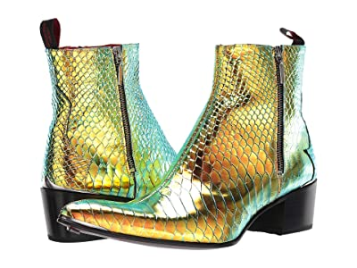 Jeffery-West Sylvian Double Zip Boot (Malibu/Petrol) Men