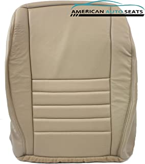Us Auto Upholstery compatible with 02 03 04 Ford Mustang GT V8 Convertible -Passenger Bottom Leather Seat Cover Tan