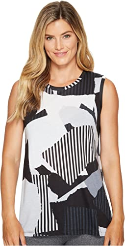 Lucy - Multi Collage Graphic Tank Top