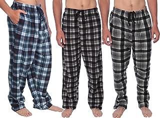 Active Club Fleece Lounge Plaid Pajama Pants Men - Adjustable Waistband