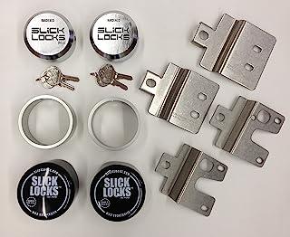 $189 » Slick Locks FD-FVK-1-TK Slick Locks Ford Swing Door Kit Complete with Spinners, Weather Covers & Locks