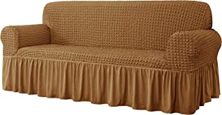 CHUN YI Universal Sofa Slipcover with Skirt 1-Piece Fitted Couch Cover All-Purpose Furniture Protector, Washable High Elas...