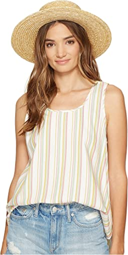 Bowe Stripe Cotton Rayon V-Back Tank Top