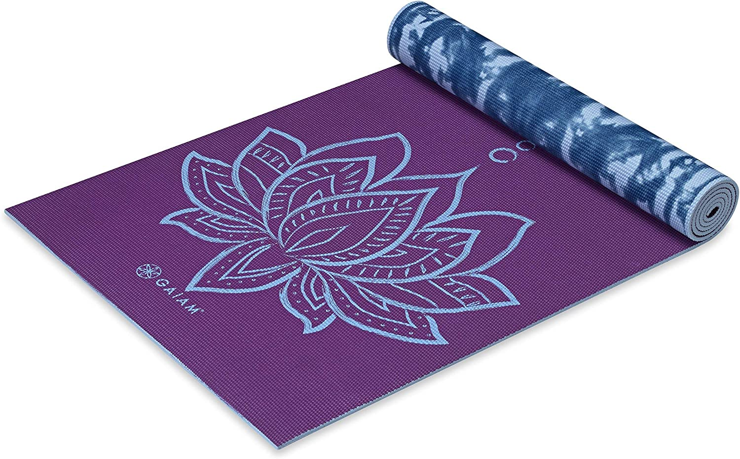 Buy Gaiam Yoga Mat - Premium 6mm Print Reversible Extra Thick Non Slip  Exercise & Fitness Mat for All Types of Yoga, Pilates & Floor Workouts (68  x 24 x 6mm Thick)