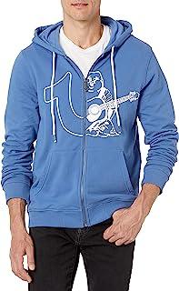 Men's Large Branded Long Sleeve Zip Up Hoodie