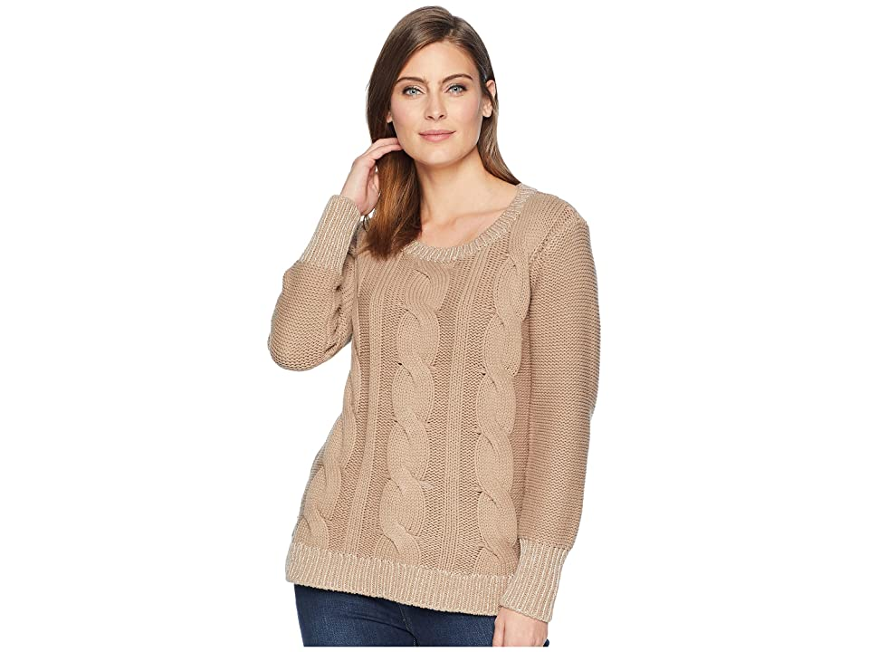 Hatley Cable Knit Sweater (Brown) Women