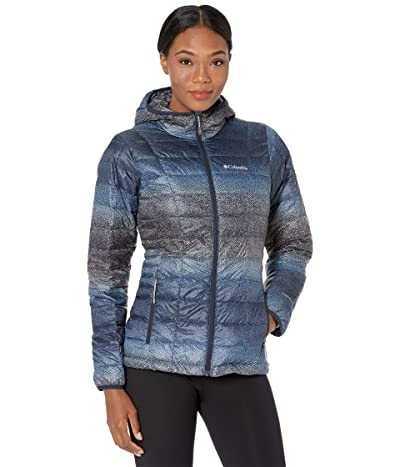 Columbia Voodoo Falls 590 TurboDown Hooded Jacket (Dark Nocturnal Spotty Ombre Print/Nova Pink) Women