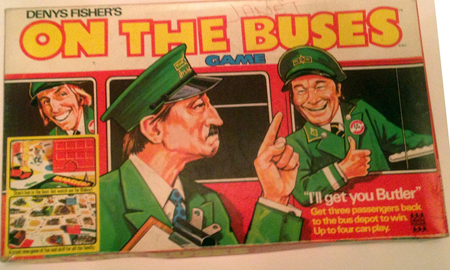 ON THE BUSES  VINTAGE BOARD GAME