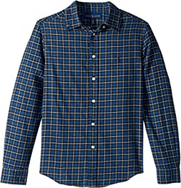 Plaid Cotton Twill Shirt (Big Kids)