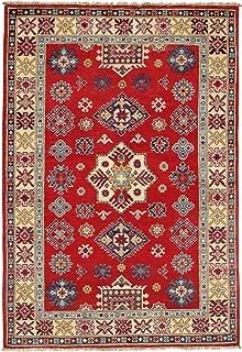 Pasargad DC Pak Kazak Lamb's Wool Rug - 4' X 6',red, Pakistan,D09798