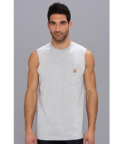 Carhartt Workwear Pocket Sleeveless T-Shirt (Heather Gray) Men