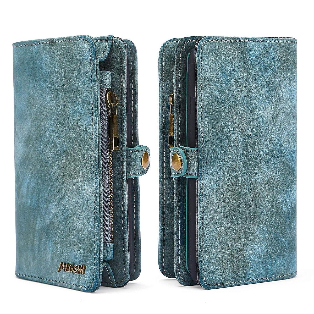 Spritech LG Stylo 3 Case,LG Stylo 3 Wallet Case,Handmade Leather Large Capacity Detachable Zipper Wallet Cover